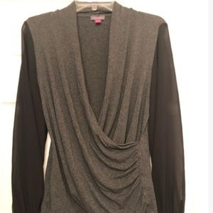 Vince Camuto Sheer Sleeve Blouse